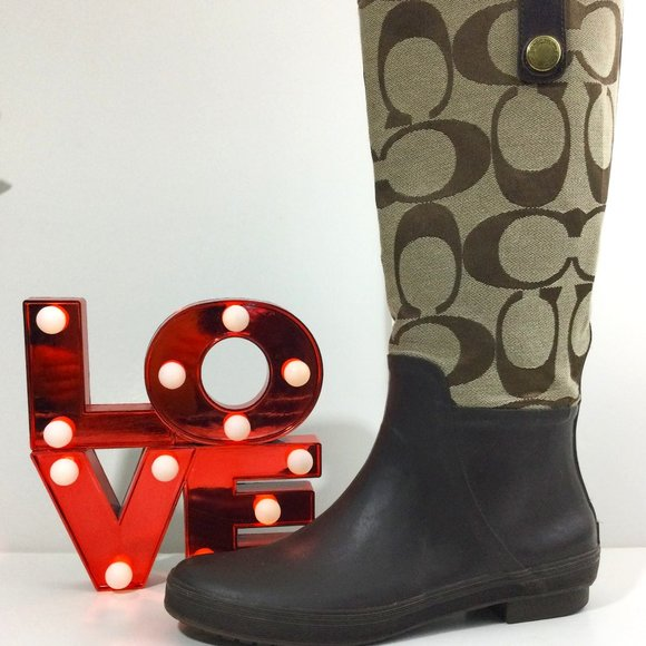 Coach Polly Tall Rubber Rain Boots